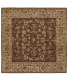 RugStudio presents LR Resources Shapes Lr5r104bwgo9sq Brown/Gold Hand-Tufted, Good Quality Area Rug