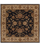 RugStudio presents LR Resources Shapes Lr5r105bkiv9sq Black/Ivory Hand-Tufted, Good Quality Area Rug