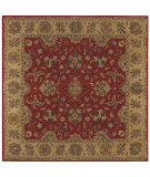 RugStudio presents LR Resources Shapes Lr5r107rego9sq Red/Gold Hand-Tufted, Good Quality Area Rug