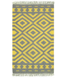 RugStudio presents LR Resources Tribeca Lr04323 Gray/Mustard Area Rug