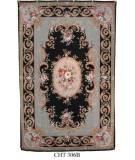 RugStudio presents Marcella Needlepoint Cht 306b Needlepoint Area Rug