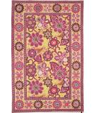 RugStudio presents Marcella Vera Bradley Bali VBY057B Gold-Pink Hand-Hooked Area Rug