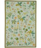 RugStudio presents Martha Stewart by Safavieh MSR1315B Silver / leaf Hand-Hooked Area Rug