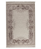 RugStudio presents Mat Orange Abundance Antique White/Brown Machine Woven, Good Quality Area Rug