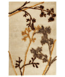 RugStudio presents MAT Orange Vivant Autumn Beige Hand-Tufted, Good Quality Area Rug