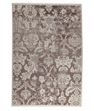 RugStudio presents Mat Orange Baroque Antique White/Brown Machine Woven, Good Quality Area Rug