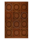 RugStudio presents MAT Orange Catena Circa Brown Hand-Tufted, Good Quality Area Rug