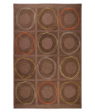 RugStudio presents MAT Orange Catena Circa Charcoal Hand-Tufted, Good Quality Area Rug