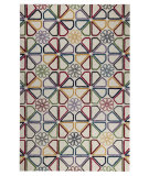 RugStudio presents MAT Orange Milano Continuu White/Multi Hand-Tufted, Good Quality Area Rug