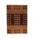 RugStudio presents MAT The Basics Domino Beige/Brown Hand-Knotted, Good Quality Area Rug