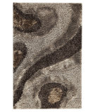 RugStudio presents MAT Orange Roca Dunes Grey Hand-Tufted, Good Quality Area Rug