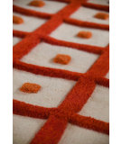 RugStudio presents MAT The Basics Frame Orange Woven Area Rug