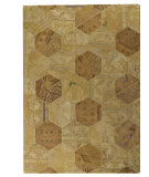 RugStudio presents MAT Vintage Honey Comb Lt.beige Hand-Tufted, Good Quality Area Rug