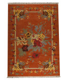 RugStudio presents Mat The Basics Karba4 Rust/Orange Woven Area Rug