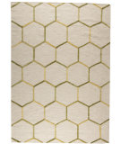 RugStudio presents Mat The Basics Khema 2 Green/Gold Woven Area Rug