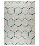 RugStudio presents Mat The Basics Khema 2 Turquoise Woven Area Rug