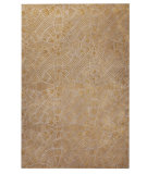 RugStudio presents MAT Orange Nova Labyrinth Grey/Brown Hand-Tufted, Good Quality Area Rug
