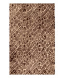 RugStudio presents MAT Orange Nova Labyrinth Beige/Brown Hand-Tufted, Good Quality Area Rug