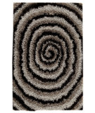 RugStudio presents MAT Orange Roca Landscape Grey/Black Hand-Tufted, Good Quality Area Rug