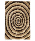 RugStudio presents MAT Orange Roca Landscape Beige/Brown Hand-Tufted, Good Quality Area Rug