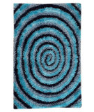 RugStudio presents MAT Orange Roca Landscape Blue Hand-Tufted, Good Quality Area Rug