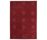 RugStudio presents MAT The Basics Malmoe Red Hand-Tufted, Good Quality Area Rug