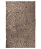 RugStudio presents MAT Orange Nova Mondo Grey Hand-Tufted, Good Quality Area Rug