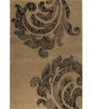 RugStudio presents MAT The Basics Almeria Beige/Brown Hand-Knotted, Good Quality Area Rug