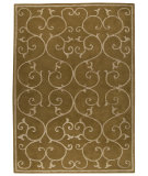 RugStudio presents Rugstudio Sample Sale 59208R Olive Green Hand-Tufted, Good Quality Area Rug