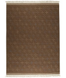 RugStudio presents MAT The Basics Bergen Brown Flat-Woven Area Rug