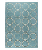 RugStudio presents Rugstudio Sample Sale 59243R Turquoise Hand-Tufted, Good Quality Area Rug