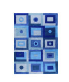 RugStudio presents MAT The Basics Berlin Blue Hand-Tufted, Good Quality Area Rug