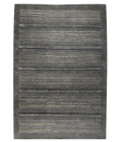 RugStudio presents MAT The Basics Boston Dark Grey Hand-Knotted, Good Quality Area Rug