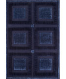 RugStudio presents MAT The Basics Bergamo Blue Hand-Knotted, Good Quality Area Rug
