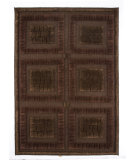 RugStudio presents MAT The Basics Bergamo Chocolate Hand-Knotted, Good Quality Area Rug