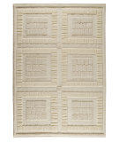 RugStudio presents MAT The Basics Bergamo White Hand-Knotted, Good Quality Area Rug