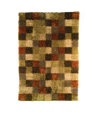 RugStudio presents MAT The Basics Bricks Beige/Brown Area Rug