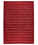 RugStudio presents MAT The Basics Chicago Red Hand-Knotted, Good Quality Area Rug
