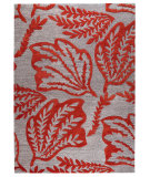 RugStudio presents MAT The Basics Leaf Red Hand-Tufted, Good Quality Area Rug