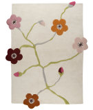 RugStudio presents MAT The Basics Messina White/Multi Hand-Tufted, Good Quality Area Rug