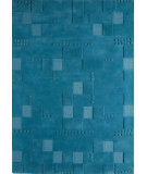 RugStudio presents MAT The Basics Miami Turquoise Hand-Tufted, Good Quality Area Rug