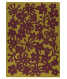 RugStudio presents MAT The Basics Newport Green/Plum Hand-Tufted, Good Quality Area Rug