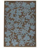 RugStudio presents MAT The Basics Newport Grey/Turquoise Hand-Tufted, Good Quality Area Rug