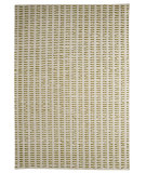 RugStudio presents MAT The Basics Palmdale White/Green Flat-Woven Area Rug