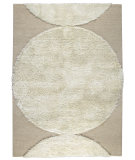 RugStudio presents MAT The Basics Rondo White Hand-Tufted, Good Quality Area Rug