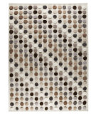 RugStudio presents MAT The Basics Smarties Natural/Multi Hand-Knotted, Good Quality Area Rug