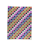 RugStudio presents MAT The Basics Smarties White/Multi Hand-Knotted, Good Quality Area Rug