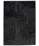 RugStudio presents MAT The Basics Toledo Black/White Hand-Tufted, Good Quality Area Rug