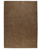 RugStudio presents MAT The Basics Toledo Grey/Brown Hand-Tufted, Good Quality Area Rug
