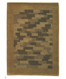 RugStudio presents MAT The Basics Nule Green Hand-Knotted, Good Quality Area Rug